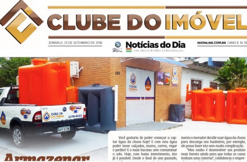 Matéria sobre economia de Água da Chuva Jornal Clube de Imóvel