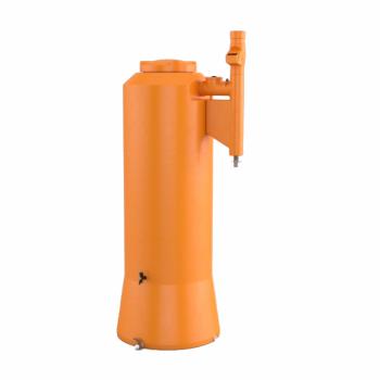 imagem Cisterna Vertical Aparente 750 L com filtro e clorador