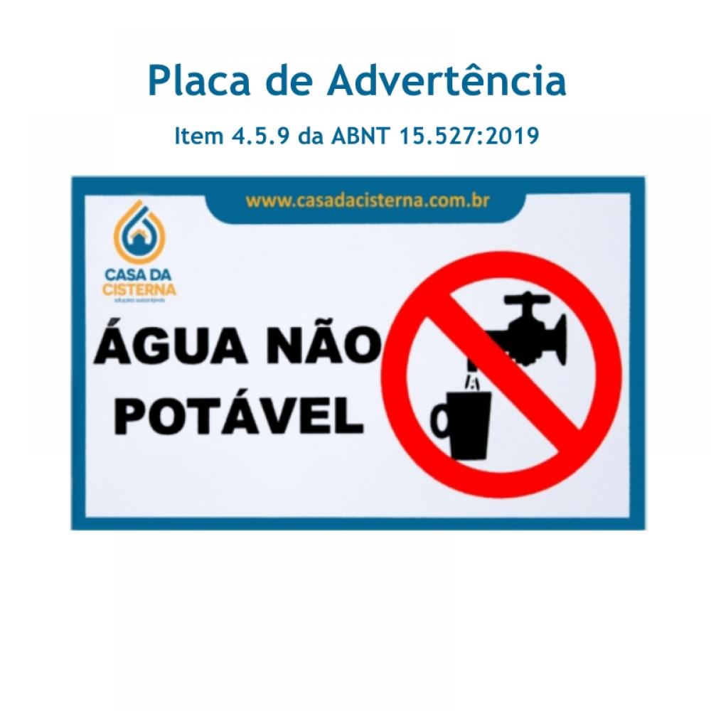 imagem Placa de Advertência em PVC