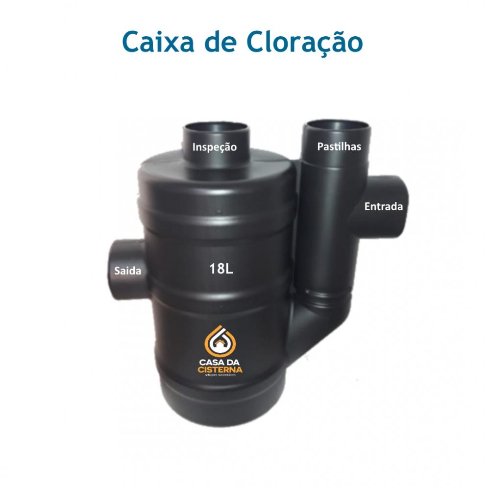 imagem Caixa de cloração 18L c/ local de inspeção
